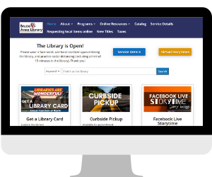 Bruce Area Library Website Screenshot